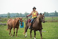 Shawn and Sabre Ponying at Horse Country Campgrounds