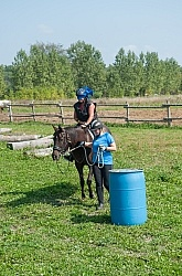 Being Ponied Blindfolded