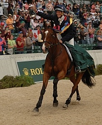 Mary King and Kings Temptress winner Rolex 2011