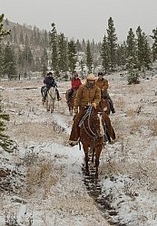 The Snowy Trail Ride Trail Riding Winter Lazy C U Ranch