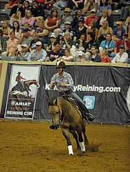 Gina Miles and Hollywood Aces  Ariat Kentucky Reining Cup