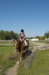 Rider at Horse Country Campground Playing in the Obstacle Course
