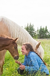 Girl with Mare and Foal