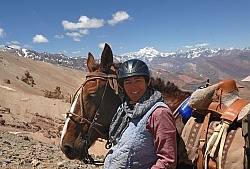 Shawn on the Crossing the Andes trip