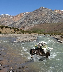 Crossing The Andes River Crossing