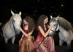 Angela and Veronica Turner, twin riders in Cavalias Odysseo