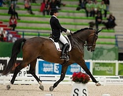 Belinda Trussell and Anton Team Grand Prix WEG 2014 Normandy, Fr