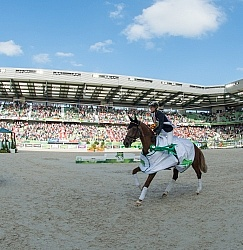 Sandra Auffarth and Opgun Louvo Victory Gallop WEG 2014 Normandy