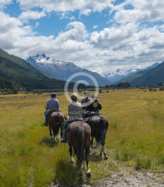 The Day Ride From Boundary Hut, Wild Womens Expeditions with Adventure Horse Trekking New Zealand