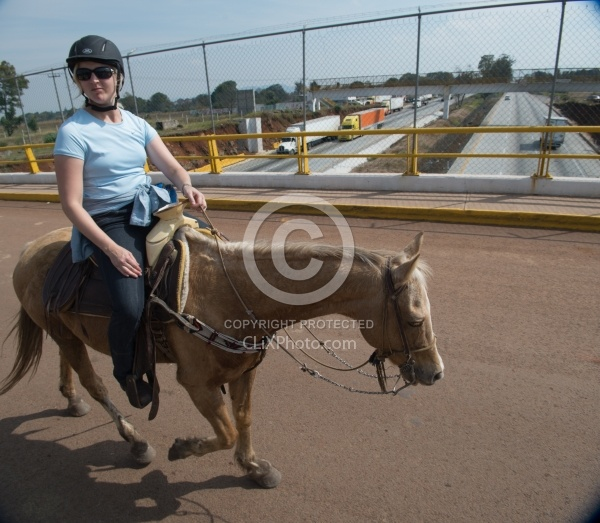 Riding under and iover Highways in Mexico