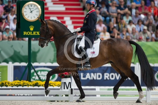 Carl Hester and Nip Tuck Freestyle Grand Prix WEG 2014 Normandy,