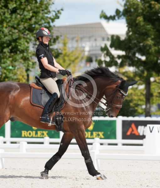 Belinda Trussell and Anton schooling WEG 2014 Normandy, France